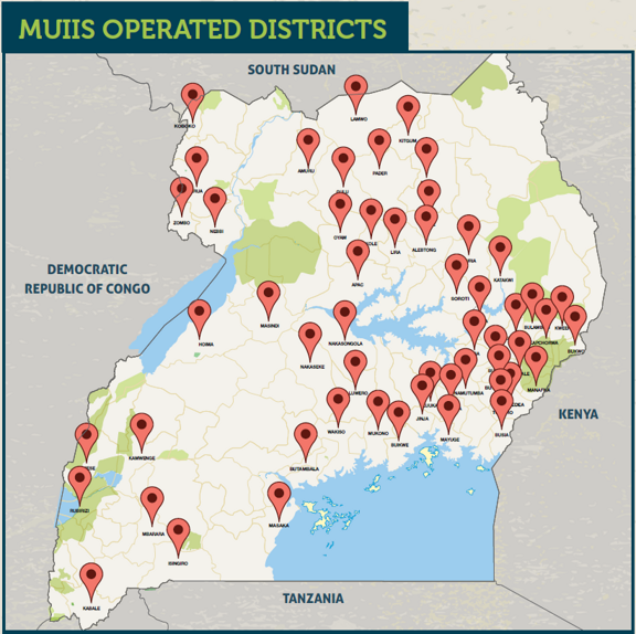 Locations where the MUIIS project is operating (image: CTA/MUIIS project)